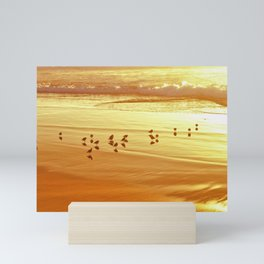Golden Shore by Reay of Light Mini Art Print