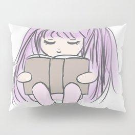 cute girl reading Pillow Sham