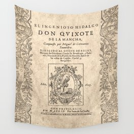 Cervantes. Don Quijote, 1605. Wall Tapestry