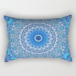 Colorful mandala in blue and purple hues Rectangular Pillow