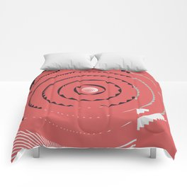 Red abstract geometrical Comforters