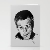 greg guillemin Stationery Cards featuring Greg Lestrade Sketch by Soyarts