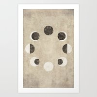 moon phase Art Prints featuring Moon Phase by cegphotographics