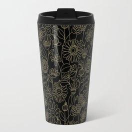 Golden flower Travel Mug