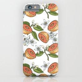 Floral Orange Blossom Azahar Neroli Oranges Pattern iPhone Case