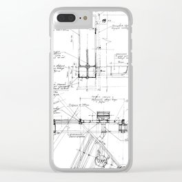 Architecture details sketch Clear iPhone Case