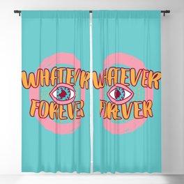 1990s Memphis Retro Mint Lettering Blackout Curtain