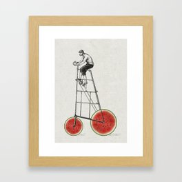 melon bike Framed Art Print