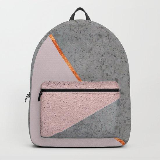 BLUSH GRAY COPPER GEOMETRICAL Backpack