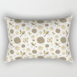 VINTAGE ELEGANT VICTORIAN DECORATIVE FLORAL & BIRDS Rectangular Pillow