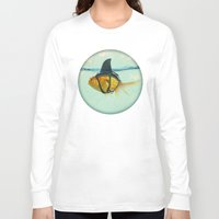 aqua Long Sleeve T-shirts featuring Brilliant DISGUISE by Vin Zzep