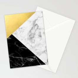 Marble & Gold Collage Stationery Cards