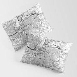 Kansas City White Map Pillow Sham