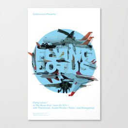 Flying Lotus Canvas Print