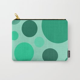 Green Circle Pattern Carry-All Pouch