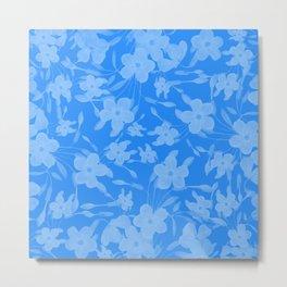 Forget-Me-Not Flowers in Blue Metal Print