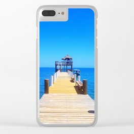 Private Pier Clear iPhone Case