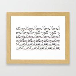 Reindeer Family Framed Art Print