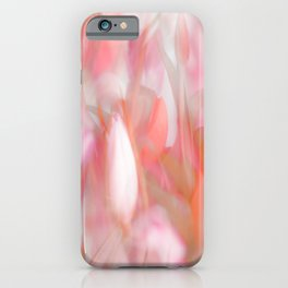 Pink Tulips Abstract Nature Spring Atmosphere iPhone Case