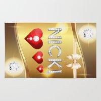 nicki Area & Throw Rugs featuring Nicki 01 by Daftblue