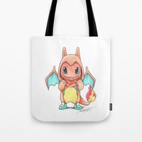 projectrocket Tote Bags featuring A Burning Passion by Randy C