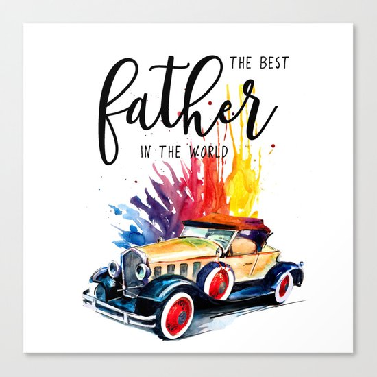 Best father #2 in the world | Father's day Canvas Print