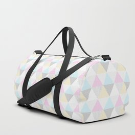 Triangle Quilt in Pastels Duffle Bag