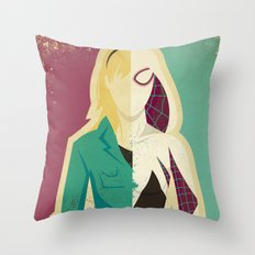 Spider Gwen Throw Pillow