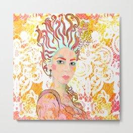 Rachel as Marie Antoinette Metal Print