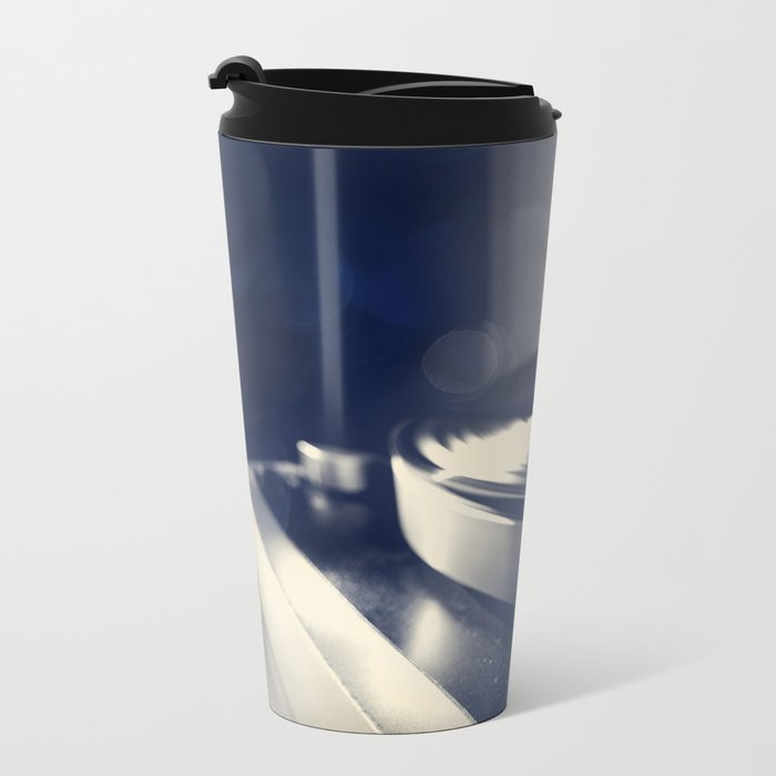 from time to time i like listening to an old record Metal Travel Mug