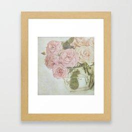 Between roses. Framed Art Print