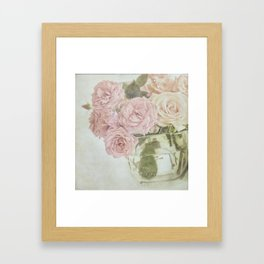 Between roses. Framed Art Print
