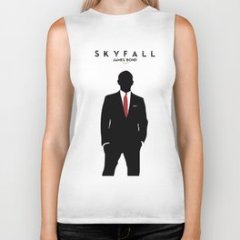 Skyfall, James Bond,minimalist design , alternative poster, Daniel Craig, Javier Bardem, Sam Mende Biker Tank