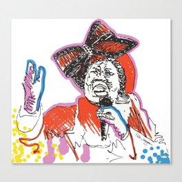Aretha Franklin African American Singer Canvas Print