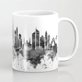 Dubai UAE Skyline BW Coffee Mug