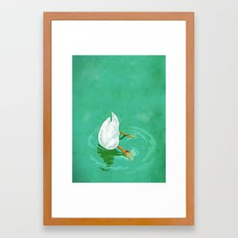 Duck diving Framed Art Print
