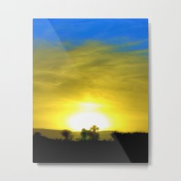 Warm Glow Metal Print