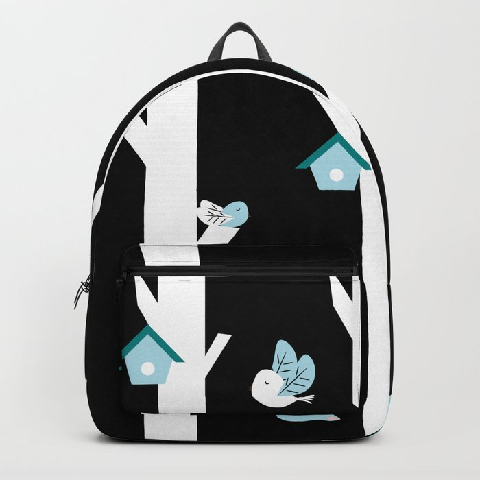 Foxes and birds at night Backpack