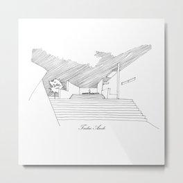 Tadao Ando Metal Print