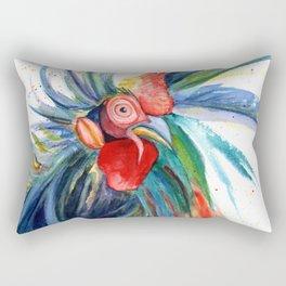 Crazy Kauai Rooster 3 Rectangular Pillow