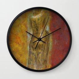 woman【Japanese painting】 Wall Clock