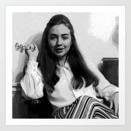 Young Hillary Clinton Art Print