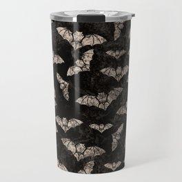Vintage Halloween Bat pattern Travel Mug