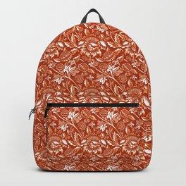 William Morris Sunflowers, Mandarin Orange Backpack