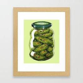 EVIL PICKLES IN A JAR Framed Art Print