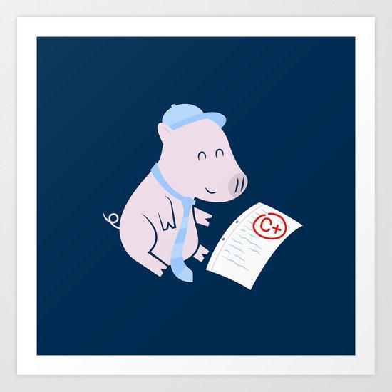 That'll Do Pig. Art Print