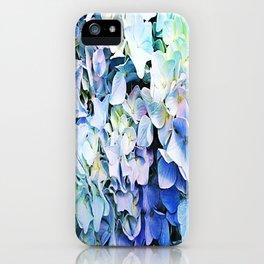 Soft Tri-Color Pastel Hydrangea iPhone Case