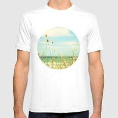 Somewhere Seaside MEDIUM Mens Fitted Tee White