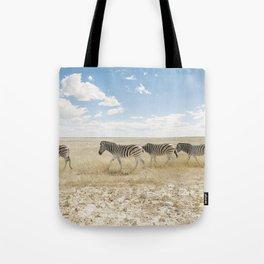 Zebra on African Savannah Tote Bag