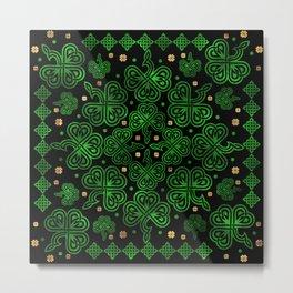 Shamrock Clover Ornament Metal Print